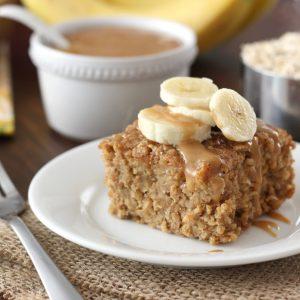 Peanut Butter Banana Bread Baked Oatmeal