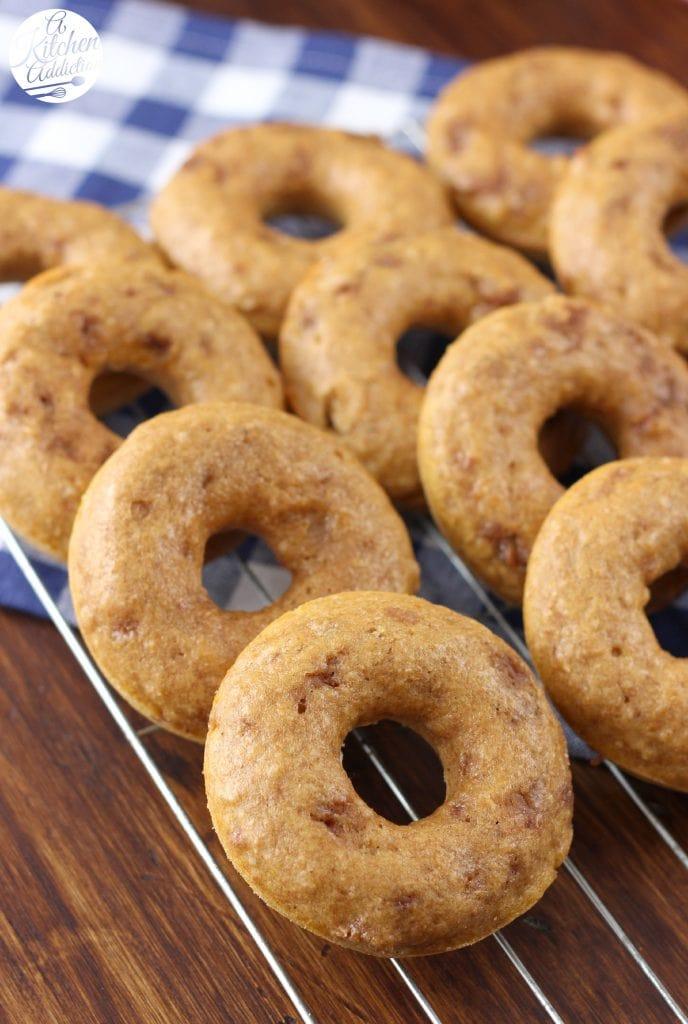 Pumpkin French Toast Donuts Recipe l www.a-kitchen-addiction.com