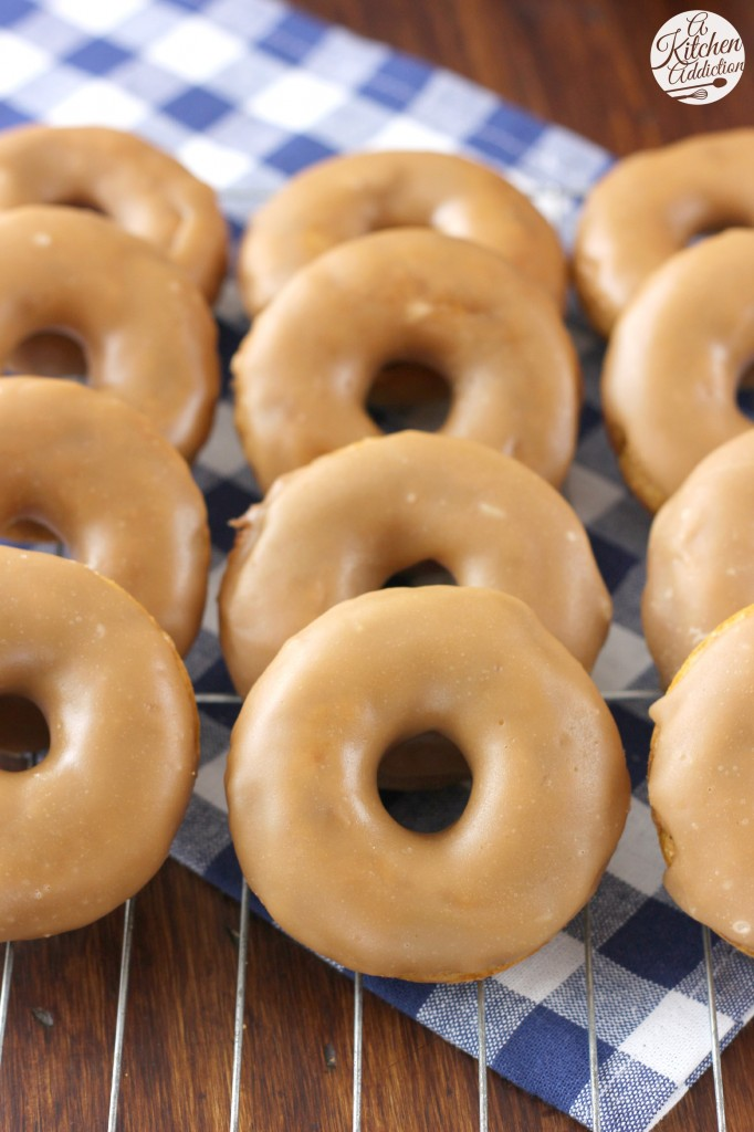 Pumpkin French Toast Donuts Recipes l www.a-kitchen-addiction.com