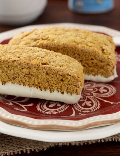 Pumpkin Pie Biscotti Recipe l www.a-kitchen-addiction.com #remixyourcoffee