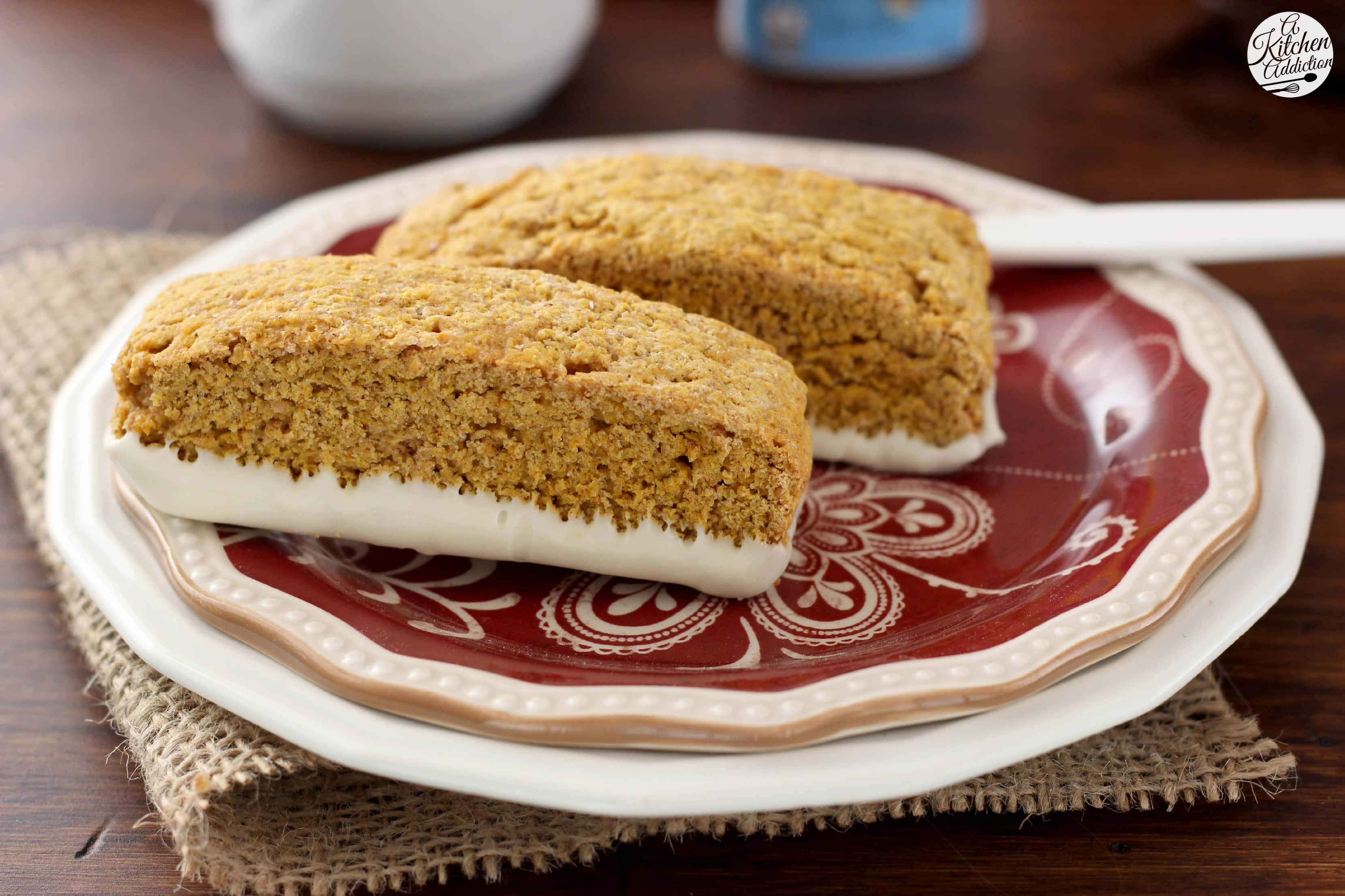 Pumpkin Pie Biscotti Recipe l www.a-kitchen-addiction.com # ...