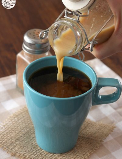 Dairy Free Pumpkin Spice Coffee Creamer Recipe l www.a-kitchen-addiction.com