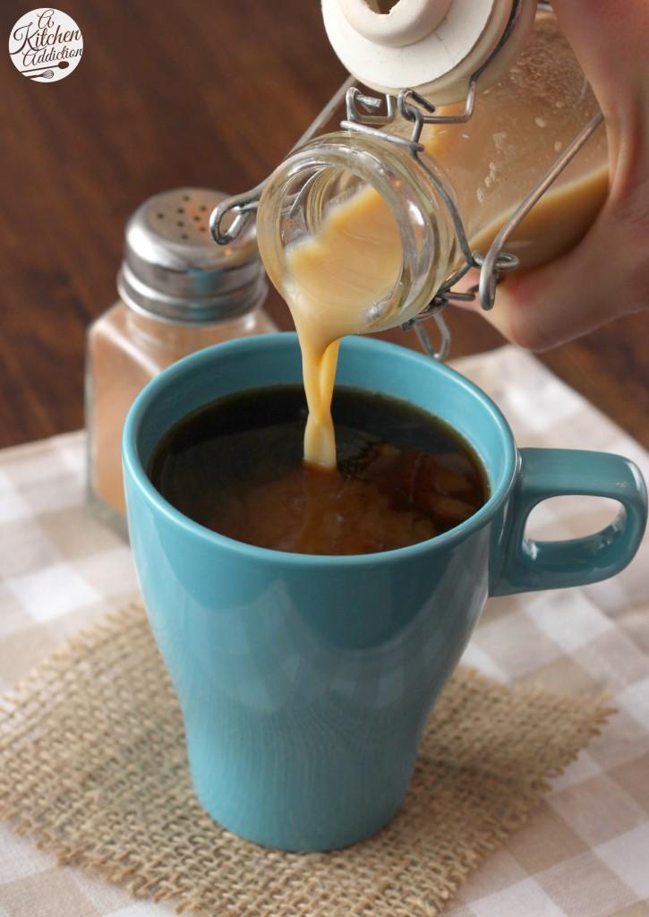 Dairy Free Pumpkin Spice Coffee Creamer Recipe l www.a-kitchen-addiction.com