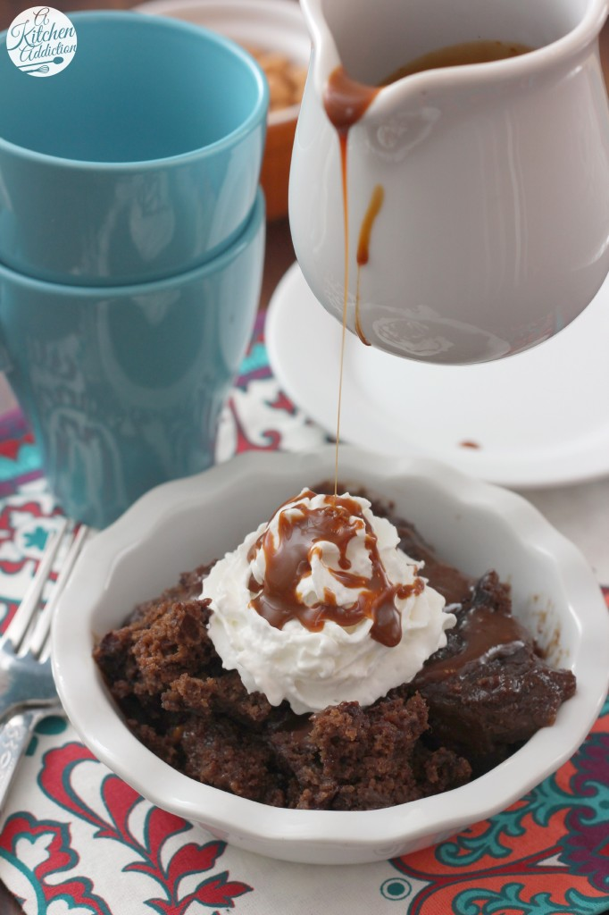 Slow Cooker Chocolate Caramel Pudding Cake Recipe l www.a-kitchen ...