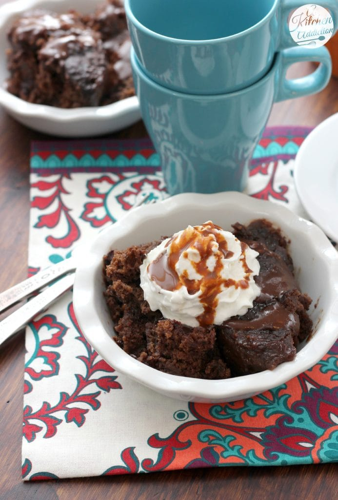 Slow Cooker Chocolate Caramel Pudding Cake Recipe from A Kitchen Addiction