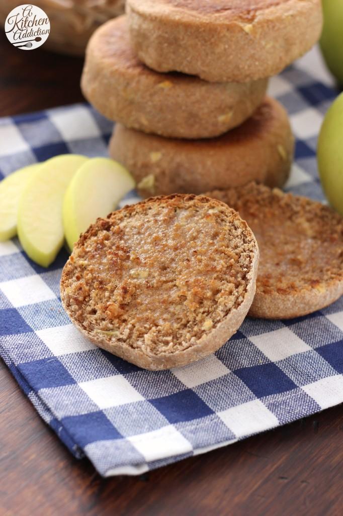 Apple Spice English Muffins Recipe l www.a-kitchen-addiction.com