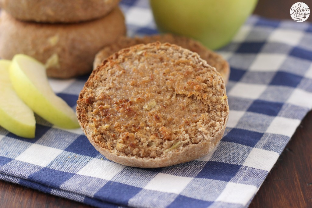 Apple Spice English Muffins Recipe from A Kitchen Addiction