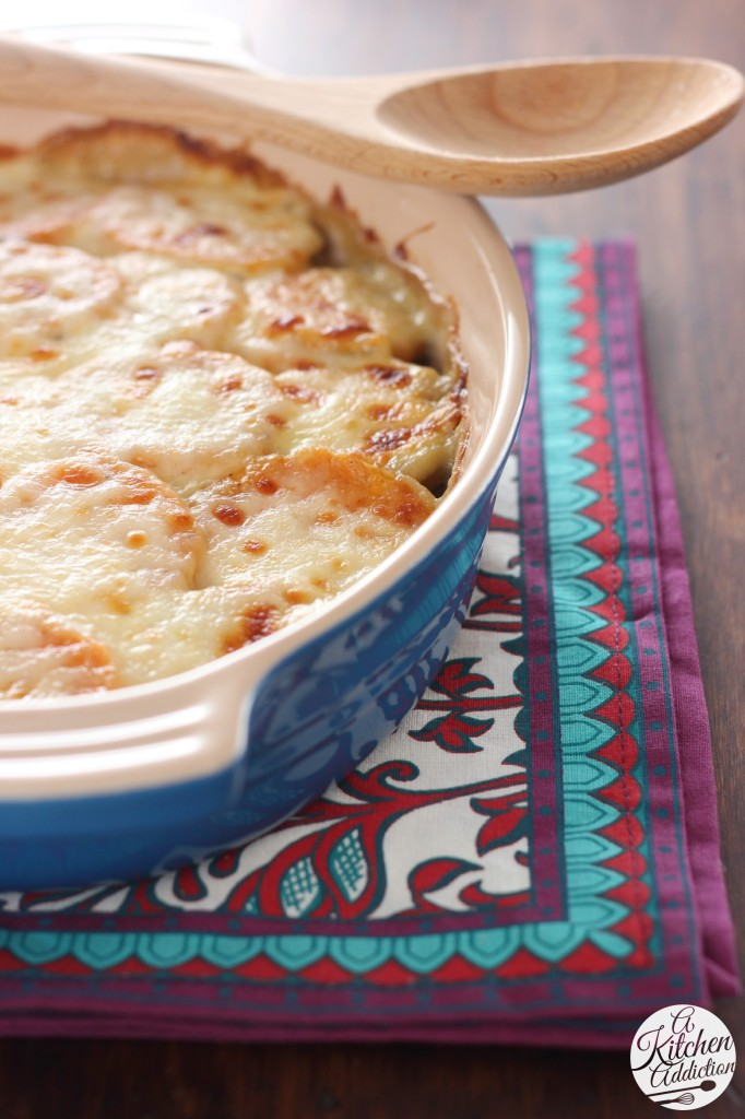 Quick and Easy Scalloped Sweet Potatoes Recipe from A Kitchen Addiction