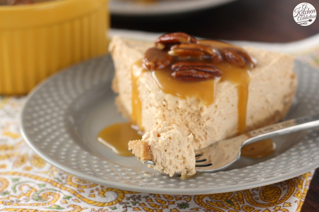 Easy Maple Pumpkin Cheesecake with Pecan Praline Topping l www.a ...