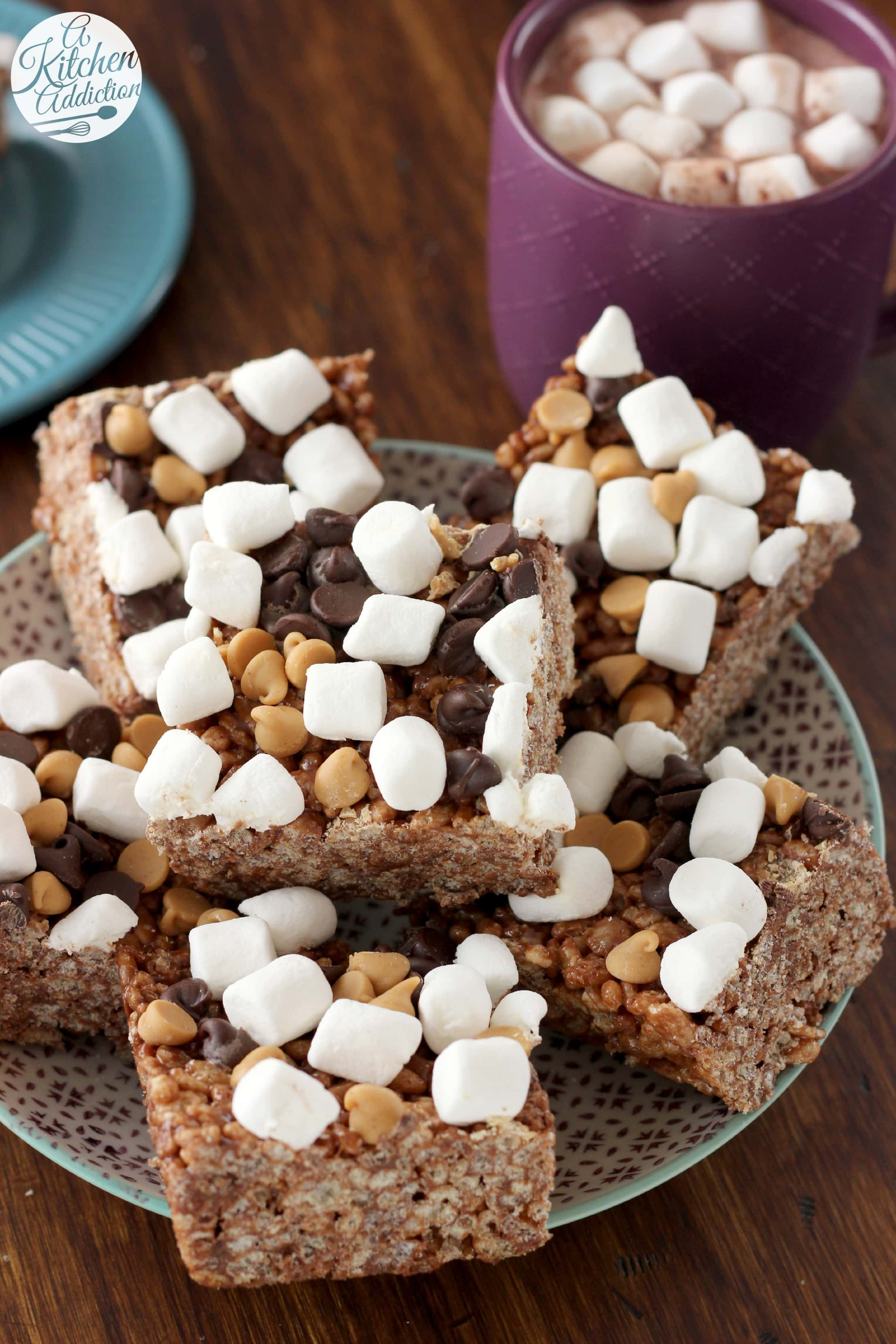 Chocolate And Marshmallow Crispy Cakes