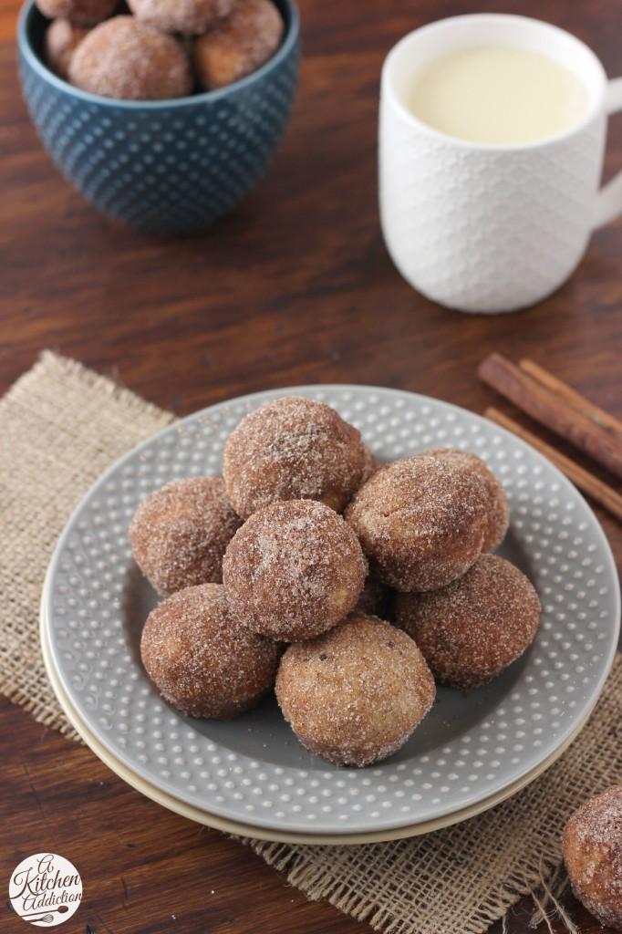 Baked Cinnamon Sugar Eggnog Donut Muffins l www.a-kitchen-addiction.com