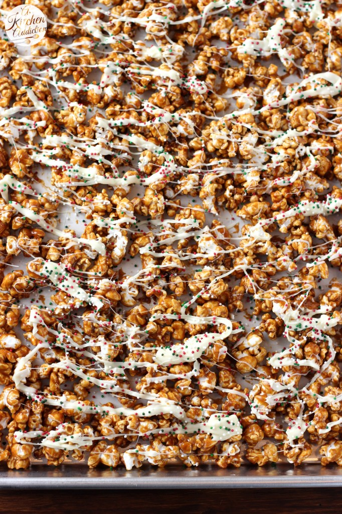 Gingerbread Caramel Corn Recipe from A Kitchen Addiction