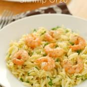 Lemon Pepper Shrimp Orzo Recipe from A Kitchen Addiction