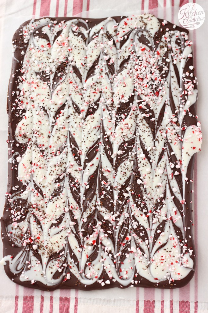 Easy Peppermint Mocha Bark Recipe l www.a-kitchen-addiction.com