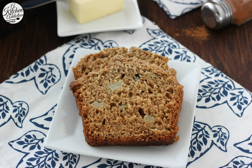 Cinnamon Pear Yogurt Quick Bread l www.a-kitchen-addiction.com