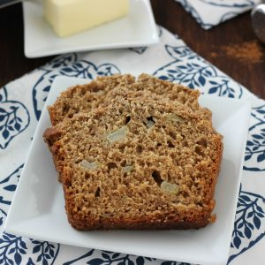 Cinnamon Pear Yogurt Quick Bread
