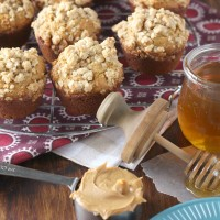 Peanut Butter Honey Oat Muffins