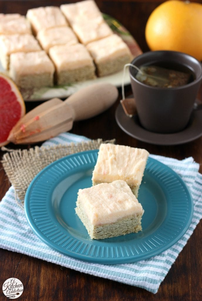 Snickerdoodle Cookie Bars with Grapefruit Buttercream Recipe from A Kitchen Addiction