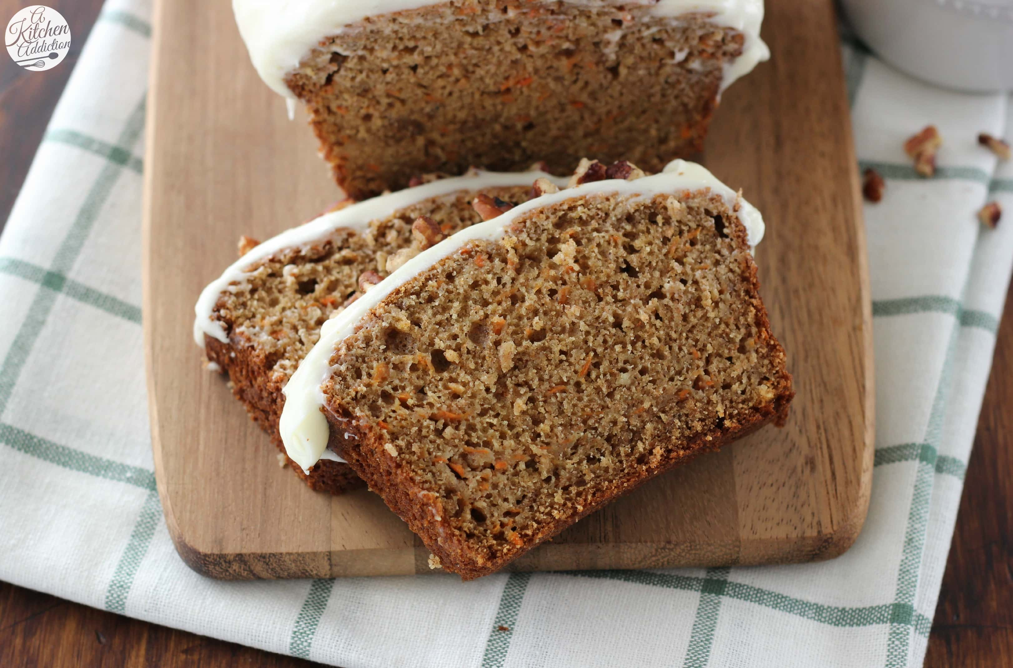 Carrot Cake Quick Bread With Cream Cheese Frosting A Kitchen Addiction