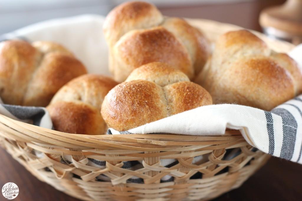 Easy Honey Whole Wheat Cloverleaf Rolls l www.a-kitchen-addiction.com