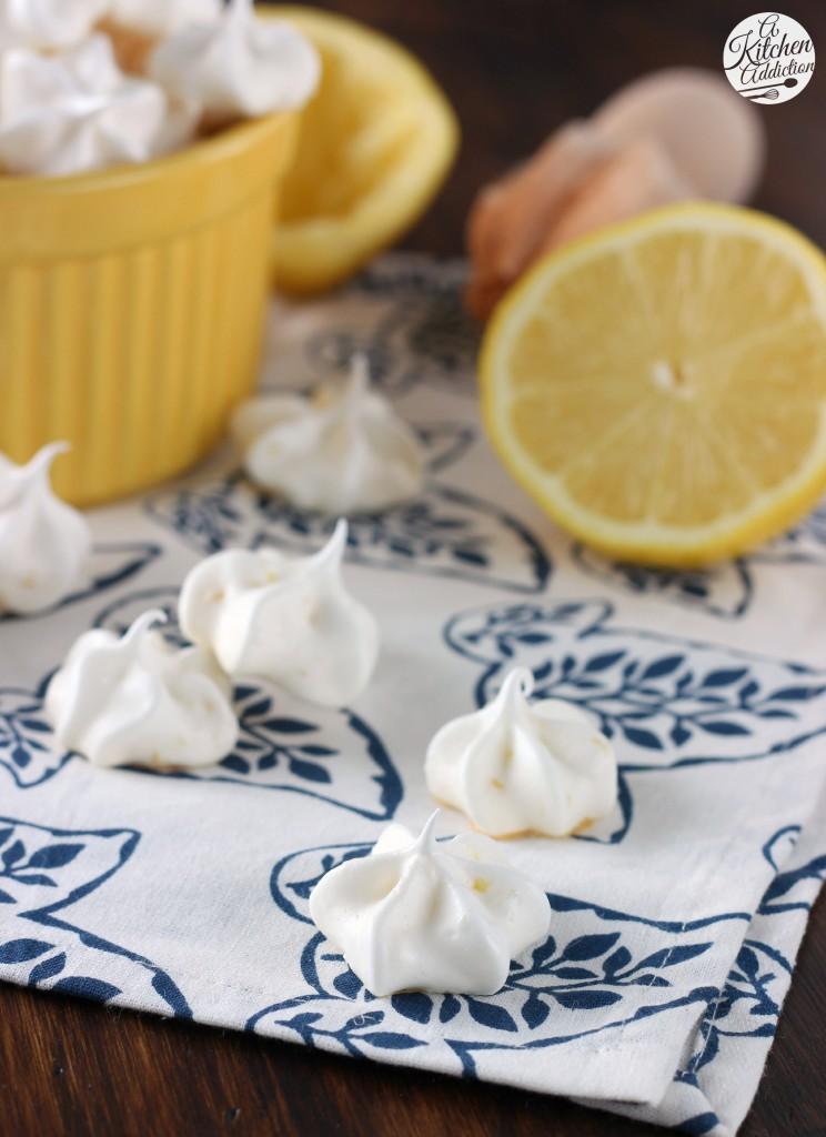 Low Fat Lemon Meringue Kiss Cookies Recipe l www.a-kitchen-addiction.com