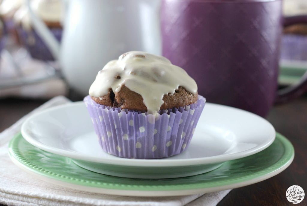 Mocha Chip Muffins Recipe from A Kitchen Addiction