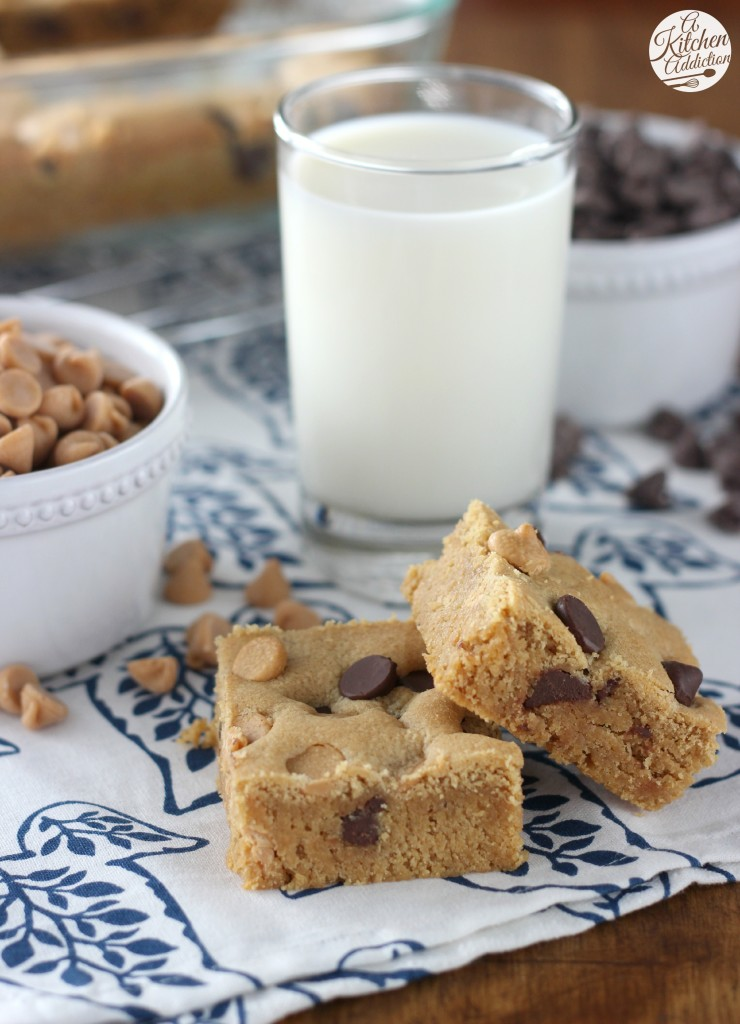 Easy Peanut Butter Chocolate Malted Cookies Bars Recipe l www.a-kitchen-addiction.com