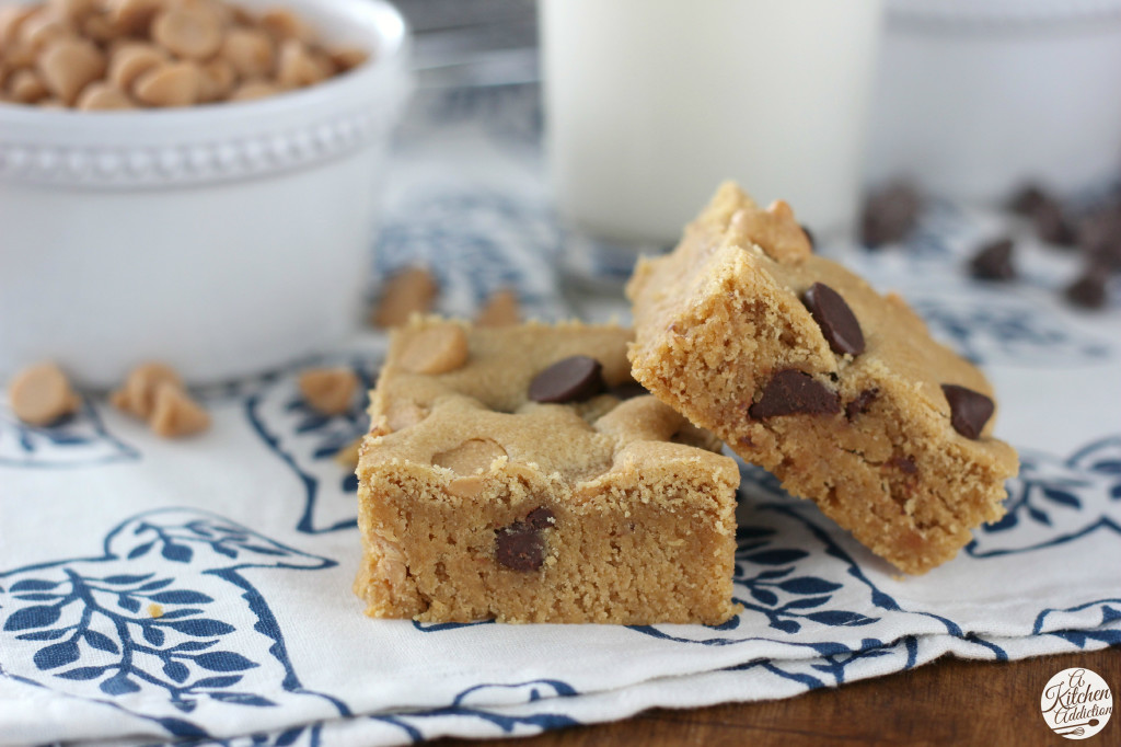 Soft Baked Peanut Butter Chocolate Malted Cookie Bars l www.a-kitchen-addiction.com