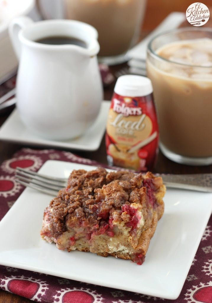 Raspberries and Cream French Toast Bake Recipe from A Kitchen Addiction
