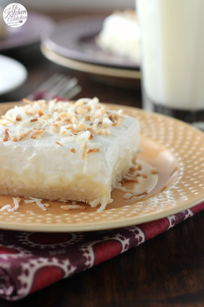 Coconut Cream Pie Bars Completely From Scratch l www.a-kitchen ...
