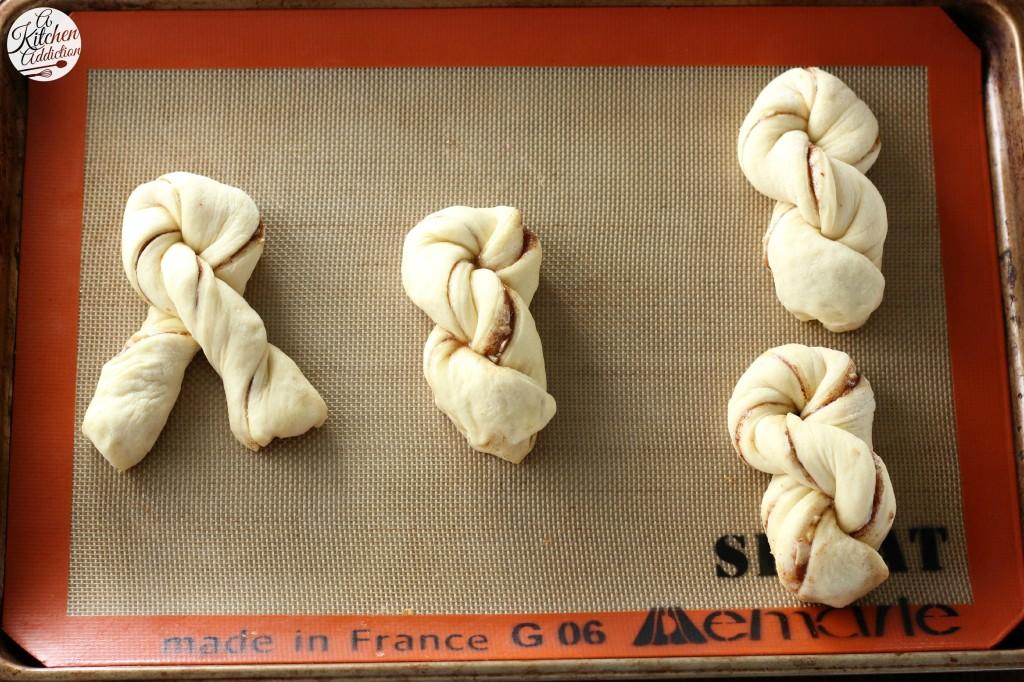 Honey Almond Cinnamon Twist Process