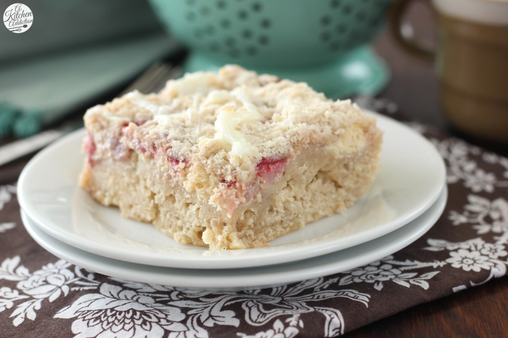 Strawberries and Cream Cheese Coffee Cake l www.a-kitchen-addiction.com