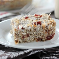 Soft Baked Strawberry Coconut Protein Bars