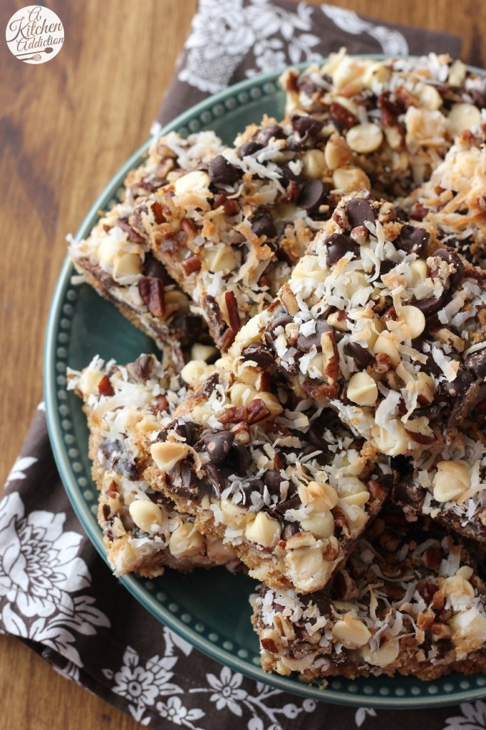 Triple Chocolate Magic Bars www.a-kitchen-addiction.com