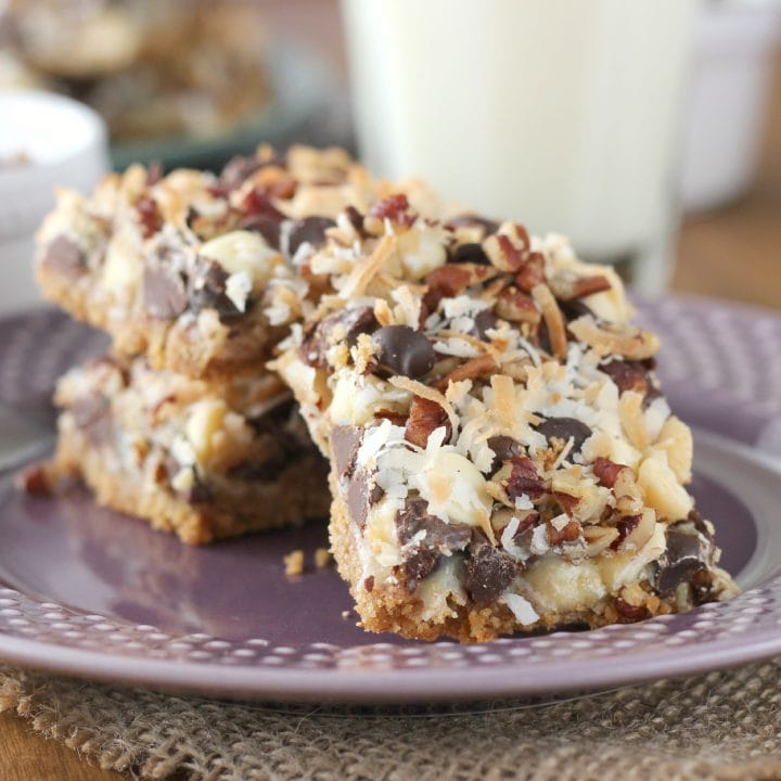 Triple Chocolate Seven Layer Bars
