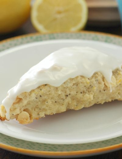 White Chocolate Lemon Poppyseed Scones