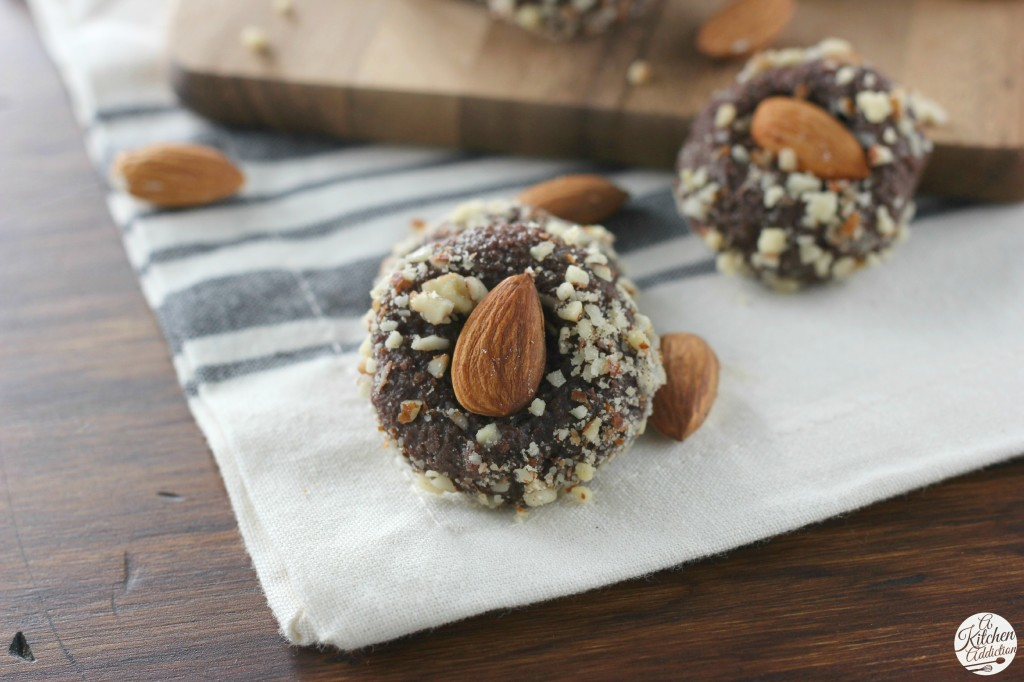 Easy Fudgy Almond Cookies Recipe from A Kitchen Addiction