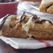 Peanut Butter Smores Scones Recipe l www.a-kitchen-addiction.com
