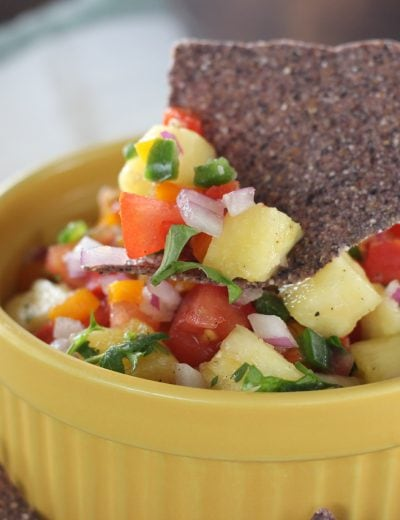 Easy Fresh Pineapple Salsa l www.a-kitchen-addiction.com