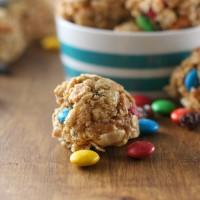Peanut Butter Trail Mix Bites Recipe l www.a-kitchen-addiction.com