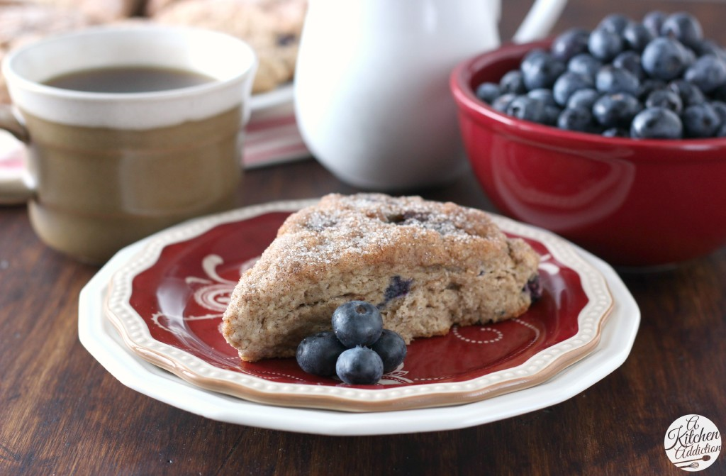 Blueberry Snickerdoodle Scones l www.a-kitchen-addiction.com