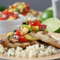Grilled Agave Lime Chicken with Pineapple Salsa