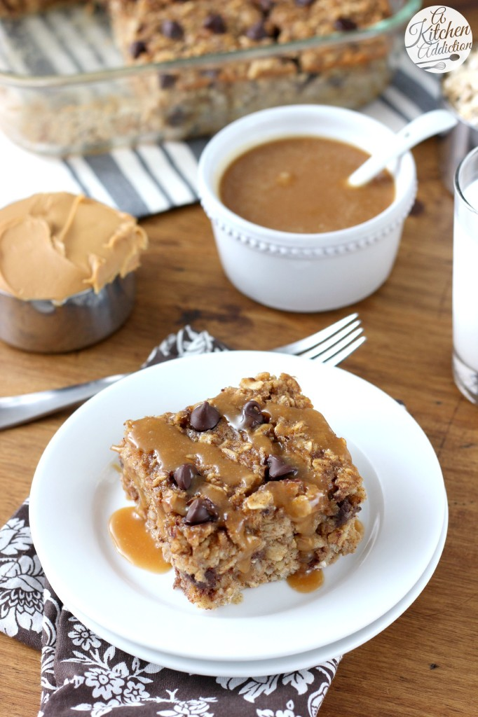 Peanut Butter Chocolate Chip Banana Bread Baked Oatmeal with Peanut Butter Syrup from @akitchenaddict