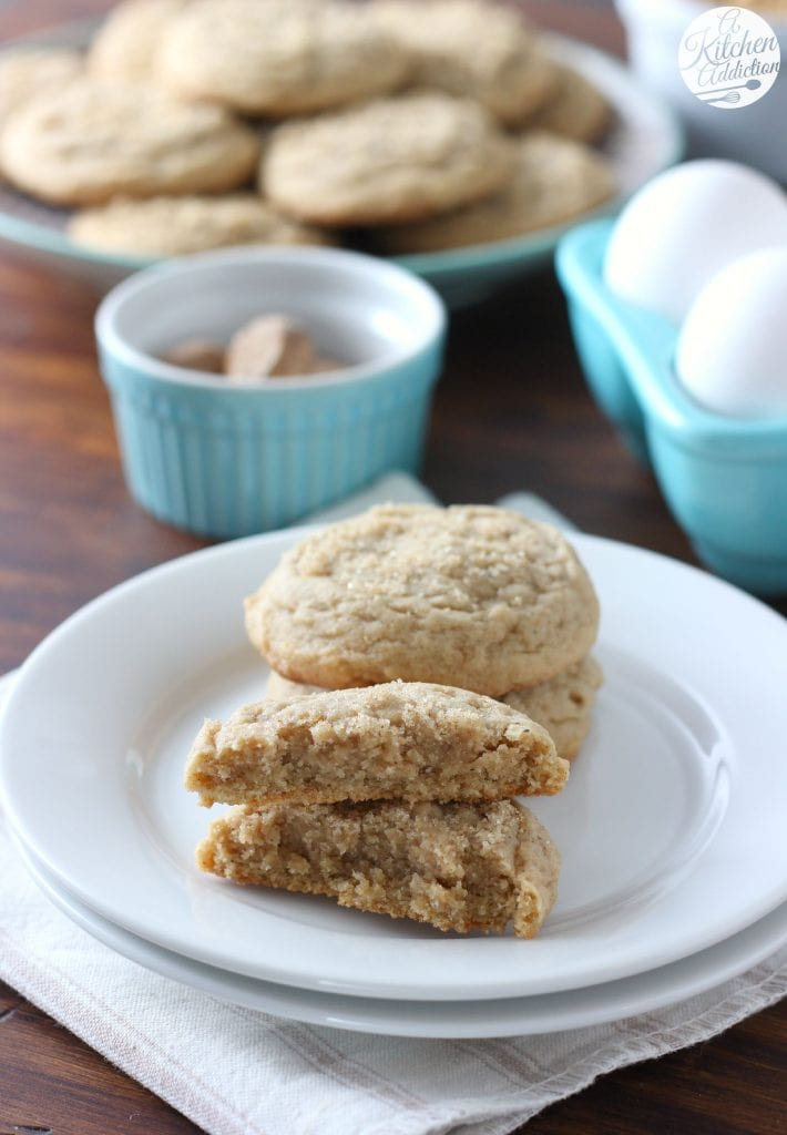 Soft Baked Brown Sugar Maple Nutmeg Cookies Recipe from A Kitchen Addiction