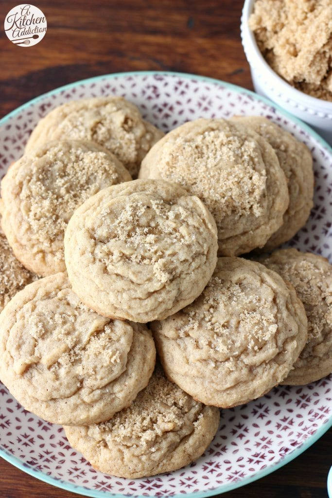 Brown Sugar Maple Nutmeg Cookies from A Kitchen Addiction
