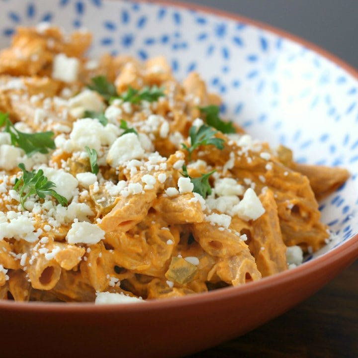Lightened Up Buffalo Chicken Penne