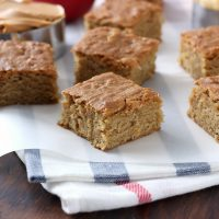 Chewy Peanut Butter Apple Bars