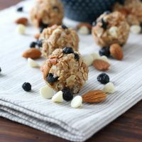White Chocolate Blueberry Maple Granola Bites