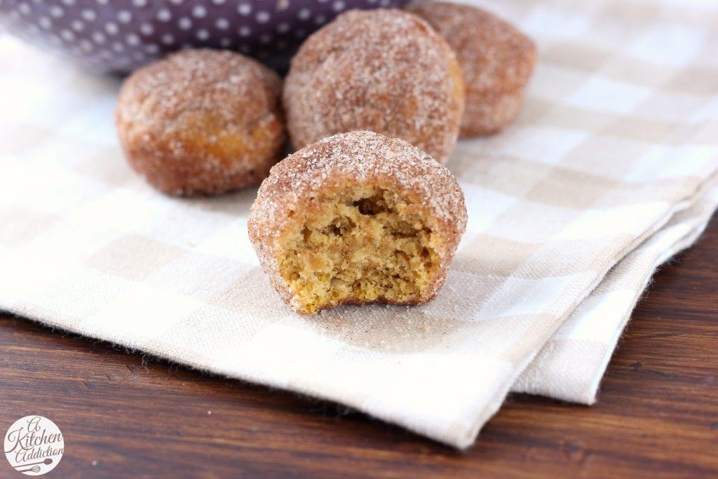 Cinnamon Sugar Pumpkin Donut Muffins Recipe from A Kitchen Addiction