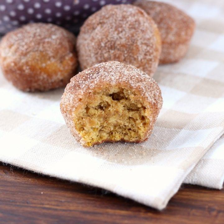 Cinnamon Sugar Pumpkin Donut Muffins